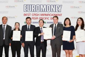 HDBank đạt giải Ngân hàng quản lý tiền mặt tốt nhất Châu Á 2018