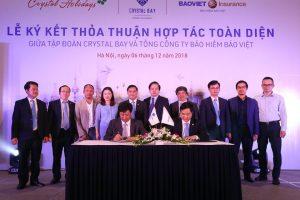 Tập đoàn Crystal ký kết hợp tác toàn diện với Tổng công ty bảo hiểm Bảo Việt