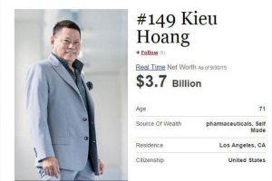 Doanh nhân gốc Việt Hoàng Kiều 'bật' khỏi danh sách tỷ phú thế giới