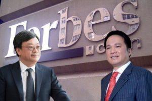 Ông Hồ Hùng Anh và ông Nguyễn Đăng Quang lọt danh sách tỷ phú Forbes năm 2019