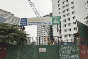 Ẵm đất vàng gần 10 năm, chung cư do UBND quận Cầu Giấy làm chủ đầu tư vẫn đắp chiếu
