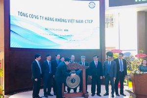 Cổ phiếu HVN của Vietnam Airlines bật tăng 4,4% trong phiên chào sàn HOSE