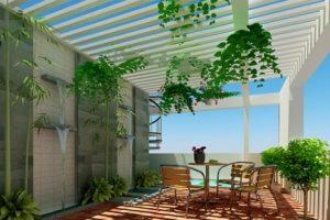Thiết kế sân thượng đẹp cho ngôi nhà tràn ngập thiên nhiên