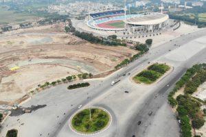 Hình ảnh đường đua F1 tại Hà Nội nhìn từ trên cao sau nửa năm khởi công
