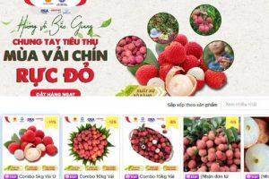 6 sàn thương mại điện tử lớn đồng loạt mở bán vải thiều Bắc Giang