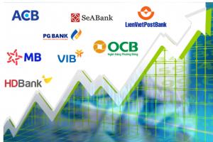 Cổ phiếu ngân hàng tuần qua: Chỉ 3 mã tăng giá, VIB 'bốc hơi' đến 10,4%